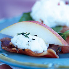Pancetta Crisps with Goat Cheese and Pear