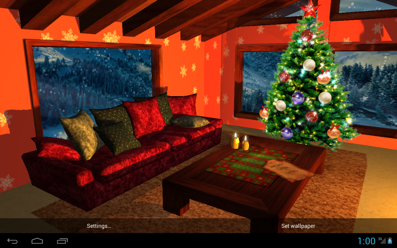 3D Christmas Fireplace HD Full Screenshot 11