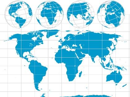 el mapa mundial. mapa mundi vector