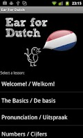 Screenshot of Learn Dutch with Ear for Dutch