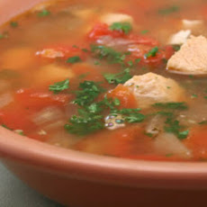 Chicken Soup with Garbanzos and Oregano