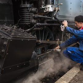 Train driver I by Pascal Hubert - People Professional People