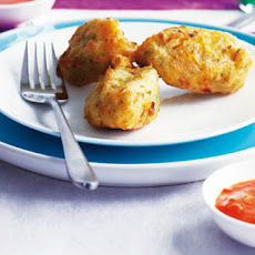 Butternut And Feta Fritters With Chipotle Chilli Dip