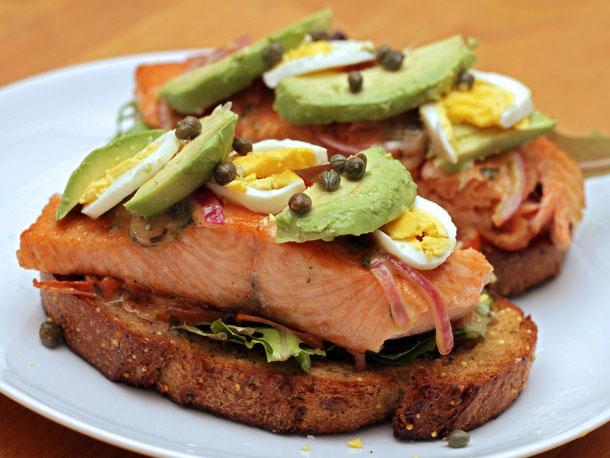 Open-Faced Salmon Sandwich with Sweet Mustard Sauce Recipe | Yummly