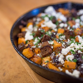 Roasted Sweet Potatoes with Prunes and Blue Cheese