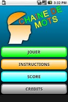 Screenshot of Chaine de Mots Lite