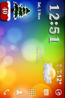Screenshot of Christmas Battery Widget