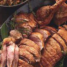 Roast Goose with Fruit-Nut Stuffing