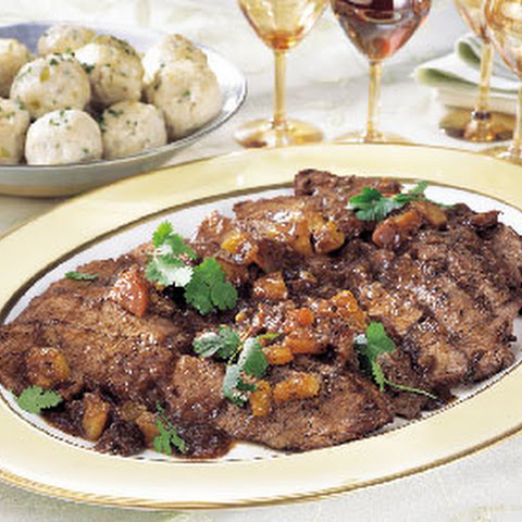 Brisket with Dried Apricots, Prunes, and Aromatic Spices