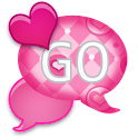 GO SMS - Lovely Pink Hearts icon