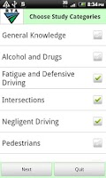 Screenshot of RTA Car Driver Knowledge Test