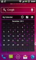 Screenshot of ICS Pink GOWidget Theme