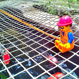 Mancing mania.. #lego #emmet #fishing by Tantan Wijaya - Artistic Objects Toys