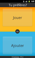 Screenshot of Tu préfères ?