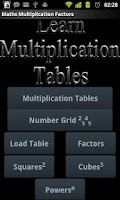 Screenshot of Multiplication Tables Legacy