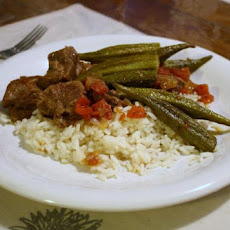 Bamya ( Lamb or Beef and Okra Stew)