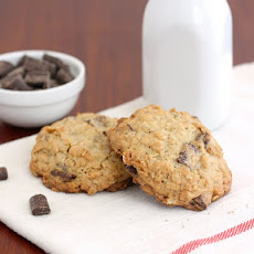 Thick and Chewy Oatmeal Chocolate Chunk Cookies