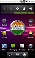 Screenshot of India flag Analog Clock