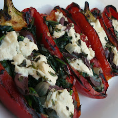 Grilled Stuffed Red Peppers
