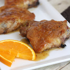 Orange-Honey Glazed Chicken Thighs