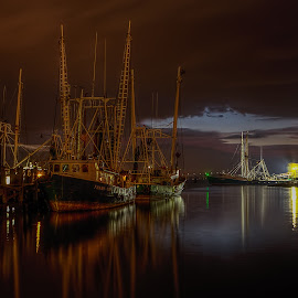 South Mississippi Twilight by Dan Peters - Transportation Boats