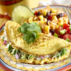 Cheesy Avocado Omelets