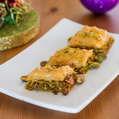 Chocolate-Pistachio Phyllo Rolls Recipe — Dishmaps