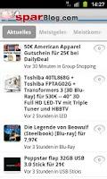 Screenshot of SparBlog.com – Schnäppchen App