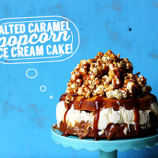 Salted Caramel Popcorn Ice Cream Cake