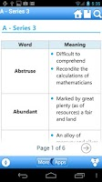 Screenshot of Vocabulary Reference