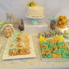 Baby Shower Decore by Dawn Simpson - Food & Drink Cooking & Baking ( cakes, rocking horse, green, lollies, babay shower, lemon )