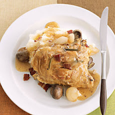 Slow-Cooker Recipe: Chicken with Bacon, Mushrooms, and Onions