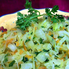 Braised Cabbage, Carrots & Onions