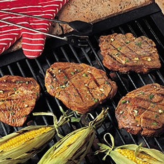 Grilled Lime-Cilantro Beef Chuck Steaks