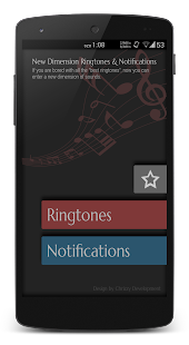 New Dimension Unique Ringtones - screenshot