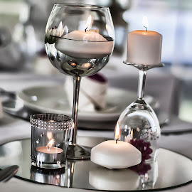 The flame within the water by Stefan van Deventer - Wedding Other ( mirror, hdr, beautiful, candles, glass )