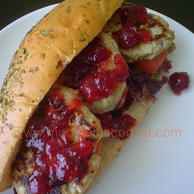 Chicken Burgers with Cranberry Sauce