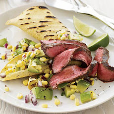 Chipotle-Marinated Flatiron Steak with Avocado-Corn Relish