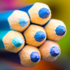Blue Color Pencils by Chin KC - Artistic Objects Education Objects ( wood, bright, tool, college, palette, equipment, yellow, tip, draw, colour, macro, colourful, pink, isolated, orange, creative, spectrum, colors, art, white, paint, pencil, crayons, rainbow, crayon, concept, coloured, colorful, set, object, education, creativity, drawing, multicolored, vector, colored, office, sharp, green, instrument, pen, red, school, wooden, blue, color, background, group, design, pencils )