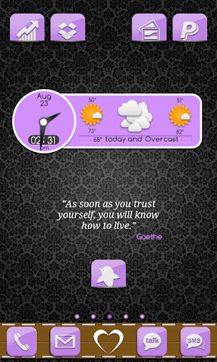 Go Launcher Theme Purple Gloss