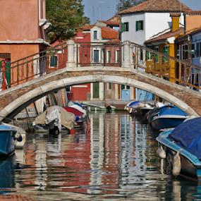 Burano by Eric Ebling - City,  Street & Park  Neighborhoods ( water, colors, boats, burano, italy, island )
