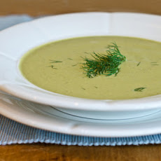 Creamy Zucchini, Walnut and Dill Soup