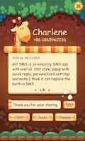 Screenshot of GO SMS Pro Z Giraffe Theme EX