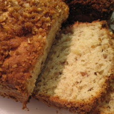 Crispy Cinnamon Streusel Banana Nut Cream Cheese Bread