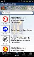 Screenshot of Señales y Normativas