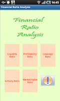 Screenshot of Financial Ratio Analysis
