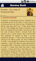 Screenshot of Mother Mary Novena Book