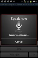 Screenshot of Deaf - Hearing chat device H
