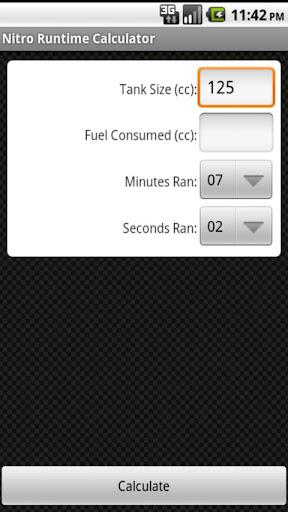 Nitro Runtime Calculator