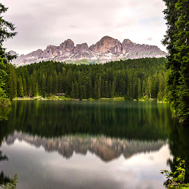 Carezza Framework by Luca Guido - Landscapes Mountains & Hills ( trentino, carezza, lake, italy )